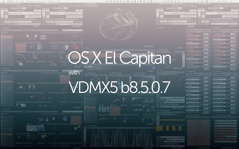 OS & VDMX Update